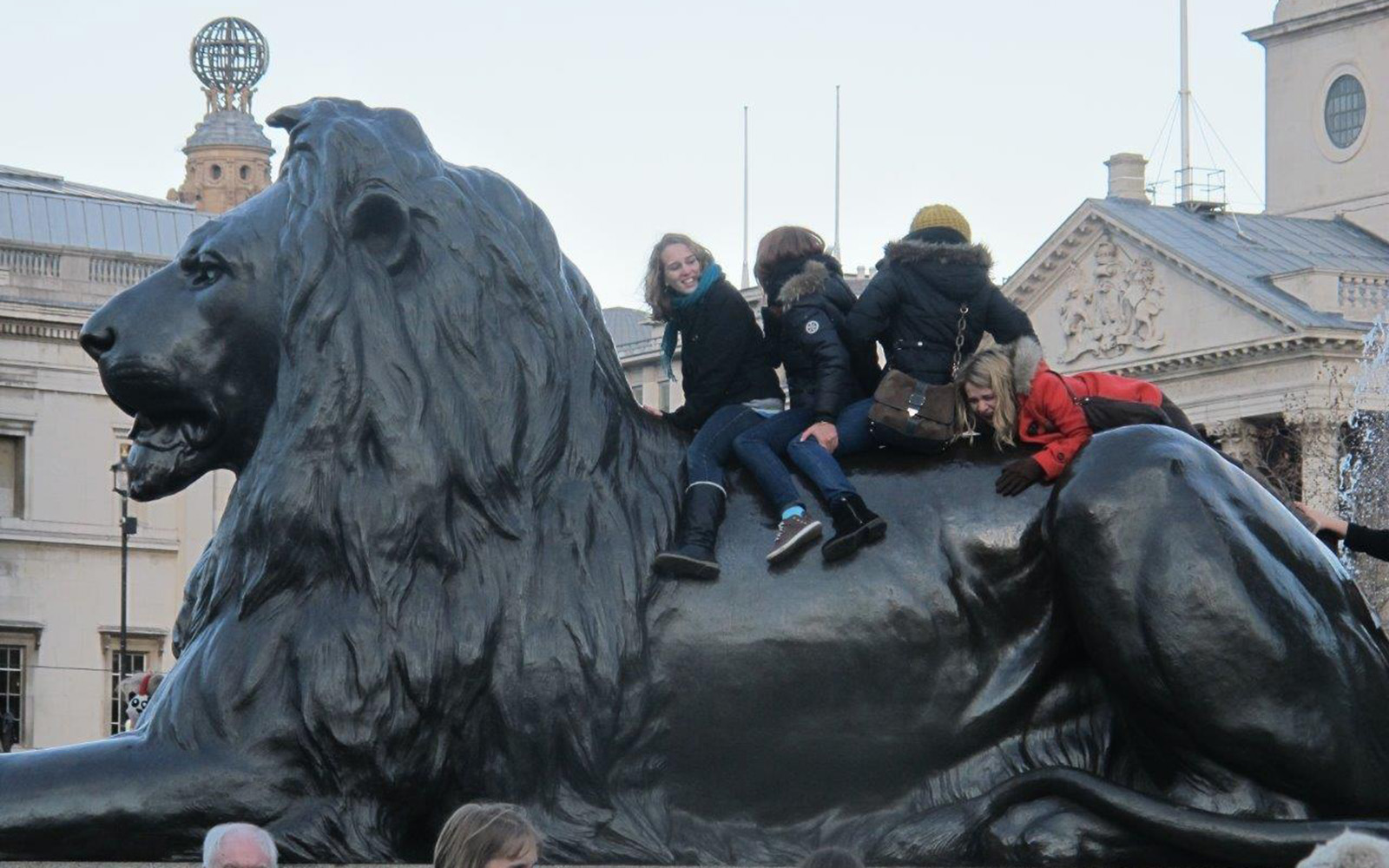 Riding Lion At Trafalgar Square