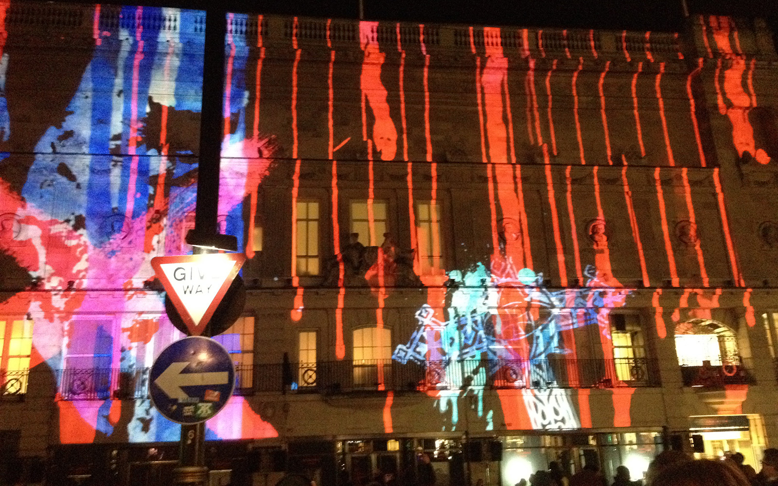 Piccadilly Street, Lumiere, 14 January 2016