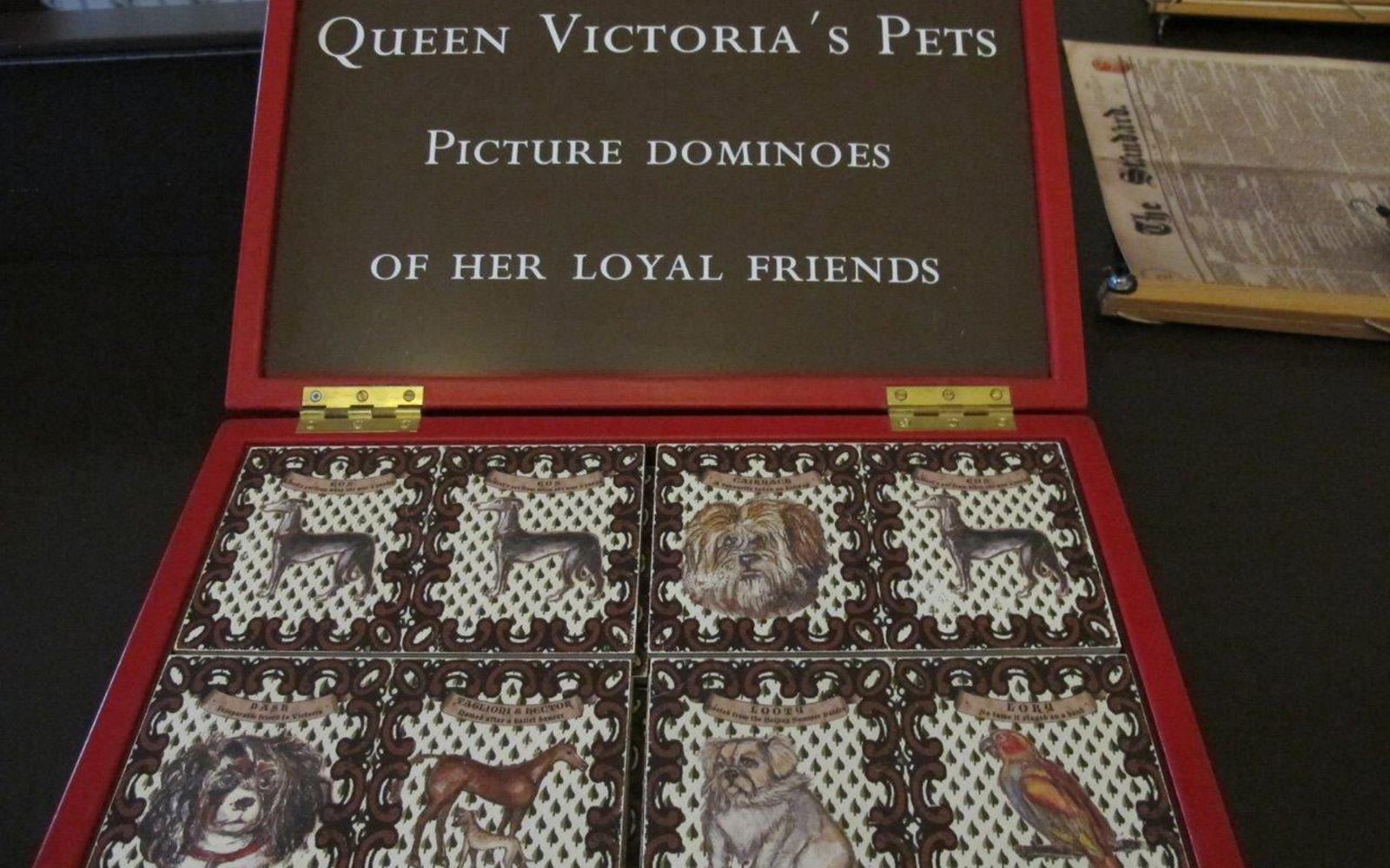 Queen Victoria Pets Dominoes
