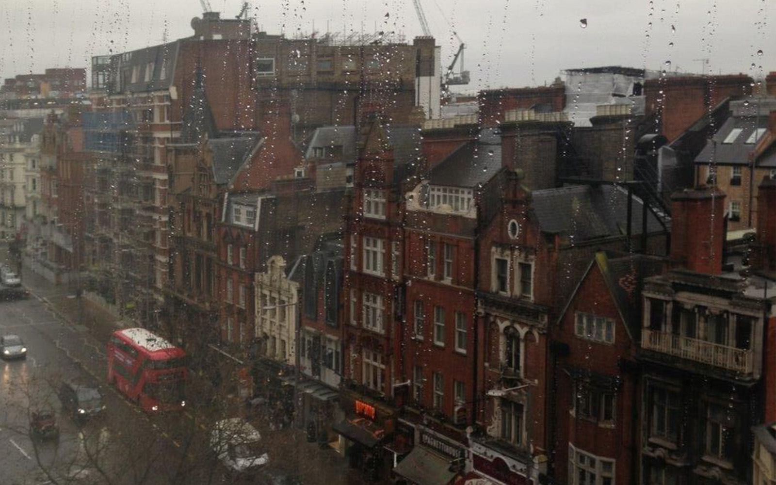Usual London Weather From Royal Garden Hotel Window