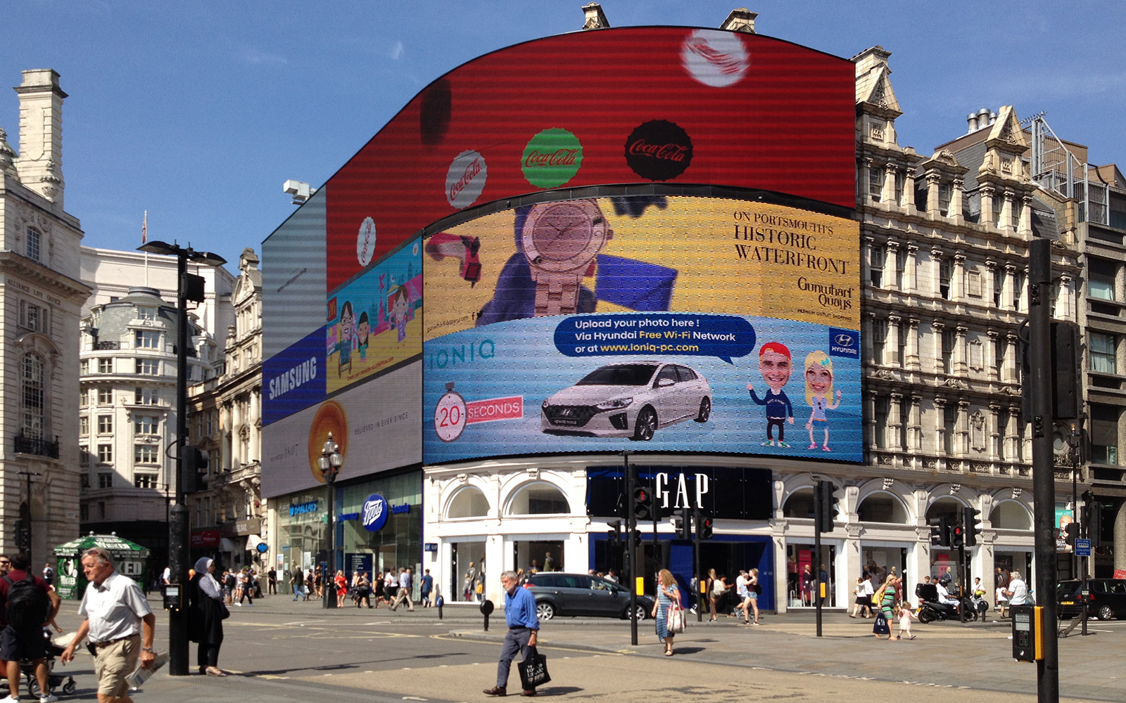 Piccadilly Circus 20 August 2016