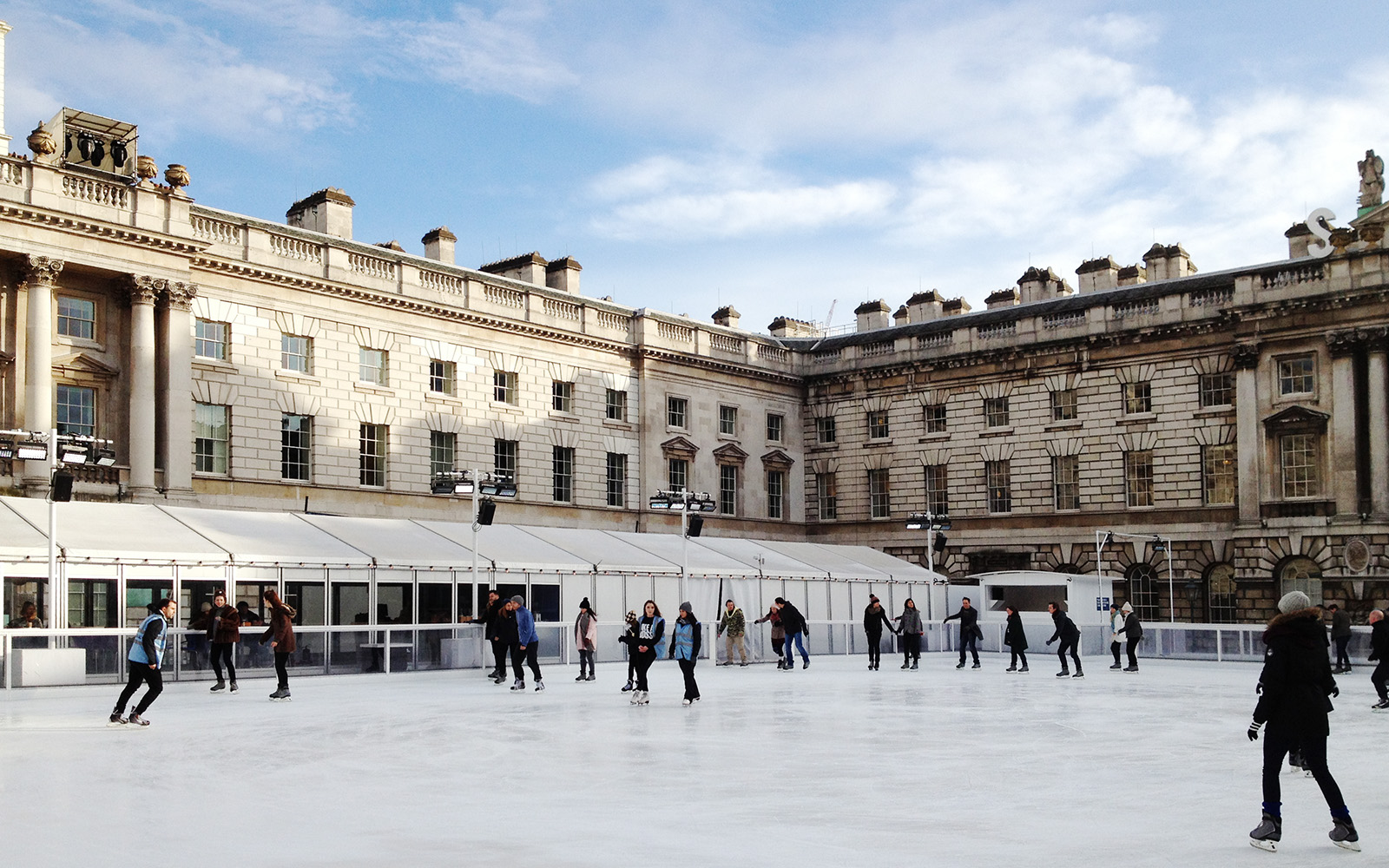 Somerset House,  Ice Rink. January 2015
